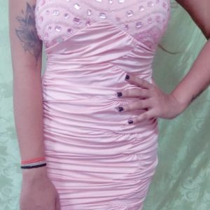 Short Dress Baby Pink Large Size